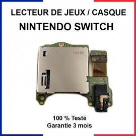 Lecteur cartouche de jeux Nintendo Switch / Prise jack (casque)